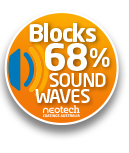 Super Therm has been tested to block 68% of sound waves