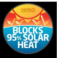 Super Therm Insulates 95% Heat Block
