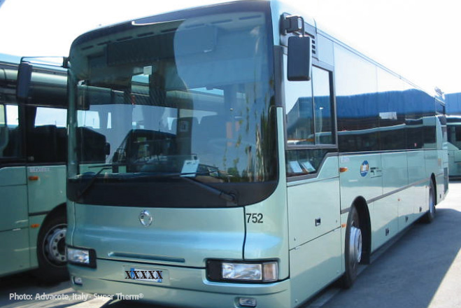 ATR Transportation Buses, Forli, Italy coated with Super Therm®