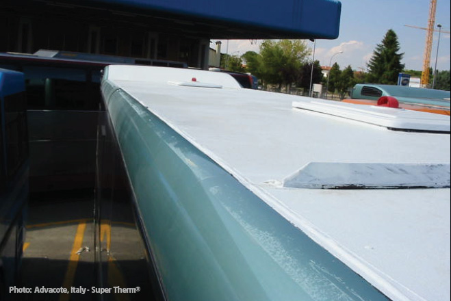 Advacote Super Therm®/Sunshield® buses Italy.