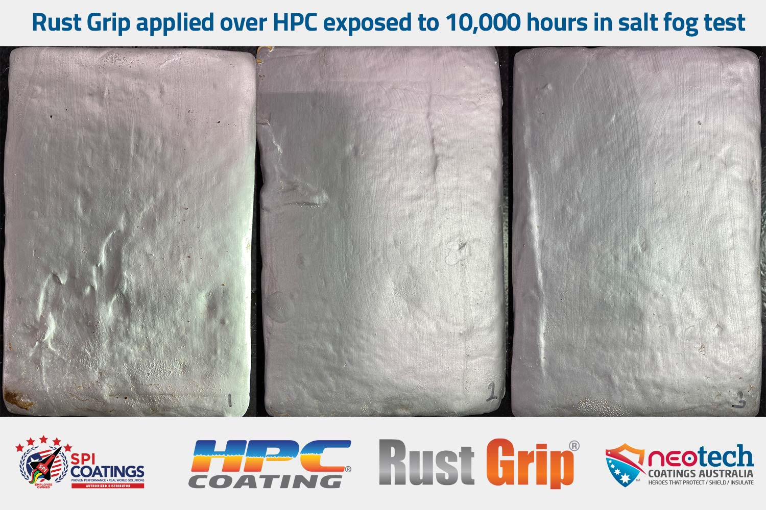 10,000 hour fog test for Rust Grip over HPC - NEOtech Coatings authorised SPI Coatings Distributor