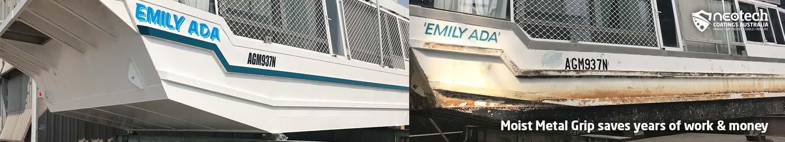 NEOtech Coatings Australia Moist Metal Grip Houseboat