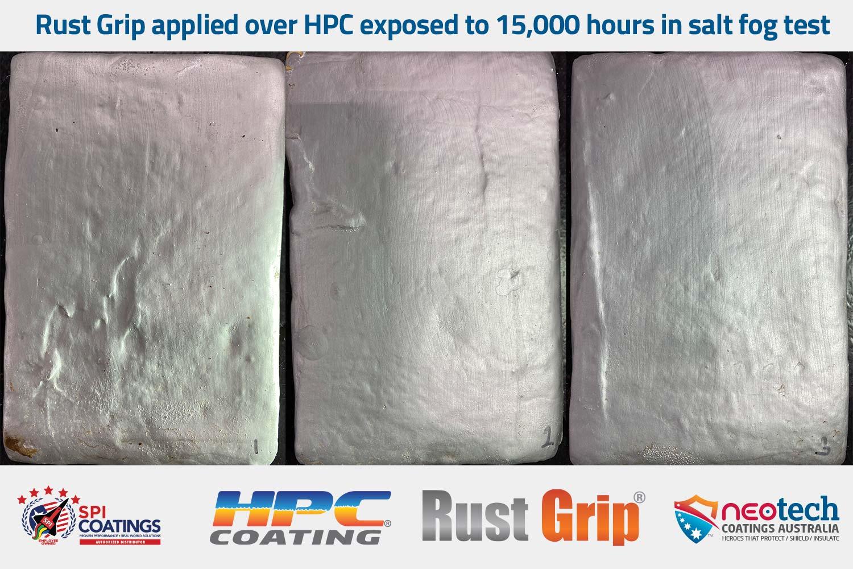10,000 hour fog test for Rust Grip over HPC - NEOtech Coatings authorised SPI Coatings Distributor