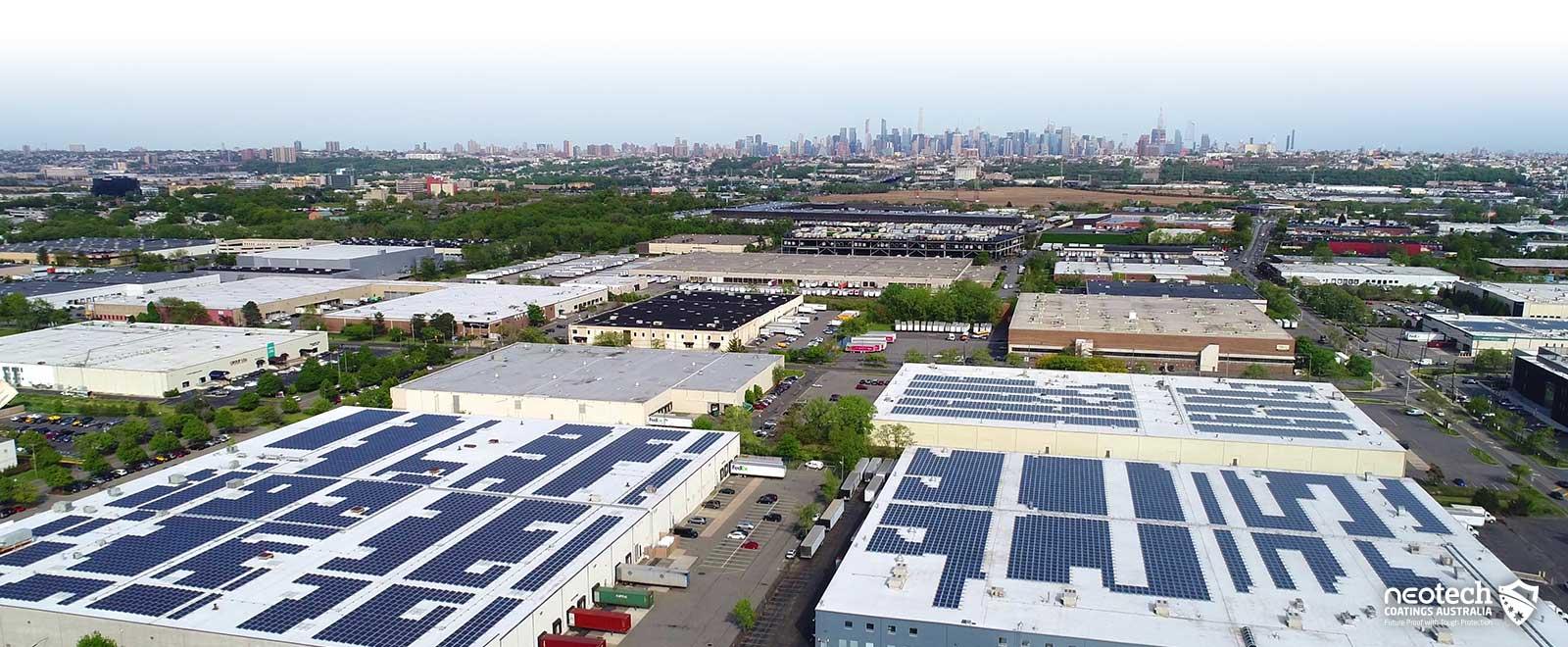 Large Span Roofing Heat Block Coatings NEOtech Coatings