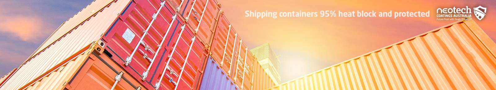 Shipping Containers Solar Heat Protection Coatings banners NEOtech Coatings